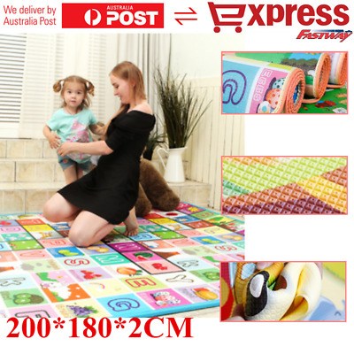 200*180*2CM Baby Game Play Mat Child Activity Soft Crawl Creeping Mat Foam