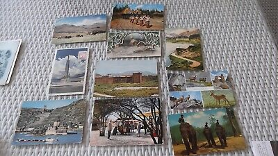 Old  world postcards x 10 including a 1909 New Year postcard, free post