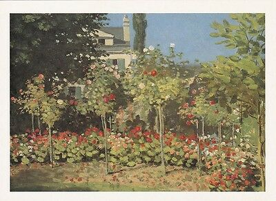 GARDEN ART PRINT POSTCARD Claude Monet : Garden in Bloom at St Adresse