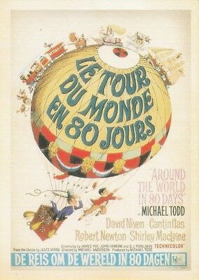 Vintage Movie Poster Repro Postcard : Around The World In 80 Days