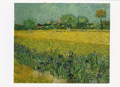 VINCENT VAN GOGH MUSEUM ART PRINT POSTCARD Field with Flowers