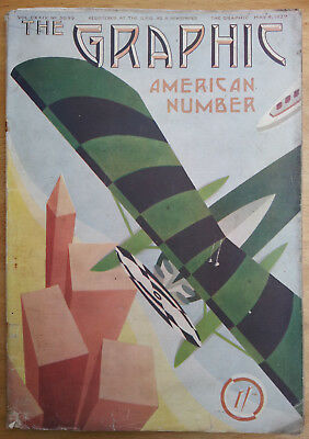 Seven issues of The Graphic magazine published April and May in the year 1929.