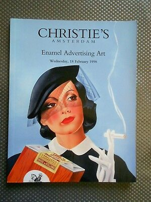 """Enamel Advertising Art"" Auktionskatalog Christie´s Amsterdam 1998"