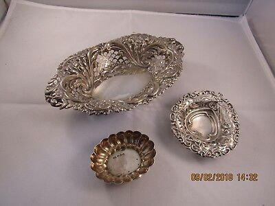 Victorian Silver Pin Tray Collection