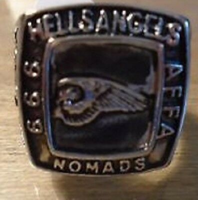 Nomads MC Club and OTHER Stainless Steel ring Size 11