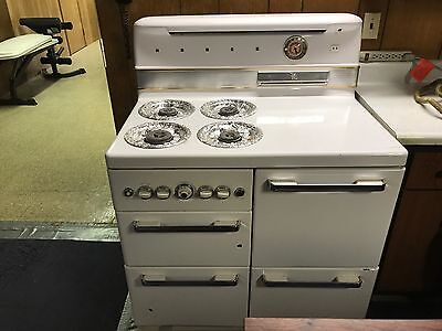 NORGE antique vintage white porcelain gas stove cook Cooking oven Burners