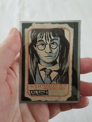 Harry Potter Moaning Mrytle sketch aceo psc card