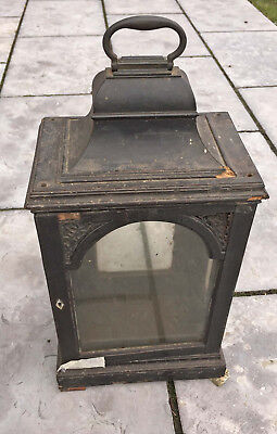 Antique 18th Century ebonised bell top bracket clock case for restoration