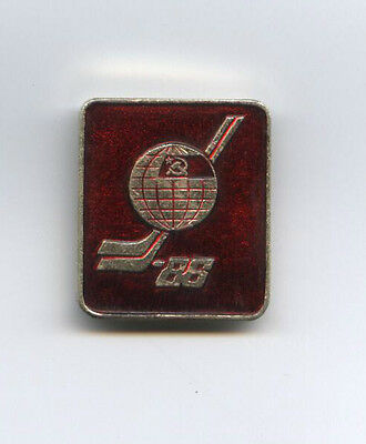 Orig.pin   Ice Hockey World Championship USSR 1986  -  OFFICIAL LOGO !!  RARE