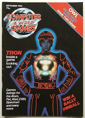 Vintage Computer and Video Games Magazine | September 1982 | Featuring TRON
