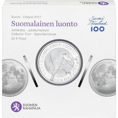 2017 Finland 20 Euro Silver Proof Finnish Nature Coin in package Kari Auvinen