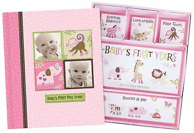 Baby Girl Memory Book Hardcover Record Babys First Five Years Diary Precious ...