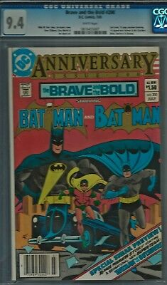 Brave and the Bold # 200 CGC 9.4 NM  White Pages Batman Katana Outsiders