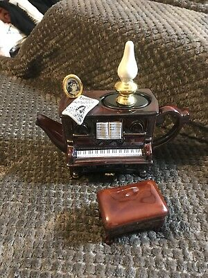 Teapottery Swineside Novelty Collectable Teapot Piano & Stool Grt Condtion