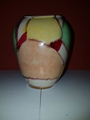 Vintage West Germany Pottery Hand Painted Vase-570/12