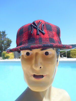 NY Casquette Cap Hat Gorra New Era 59Fifty Genuine MLB Baseball New York Plaid