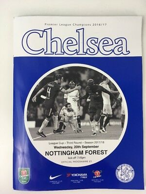 Chelsea FC Nottingham Forest Premiere League 2017 England Match Day Programme