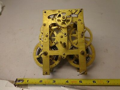 Antique American Clock Movement For Parts or Restore