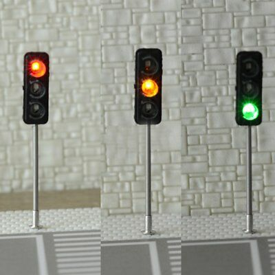 3PCS HO / OO Traffic Light Signal LED Model Architecture Crossing Street #6