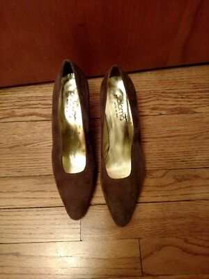Woman's PALOMA Italian Made brownish/purple Suede Pump Heels 8.5 M