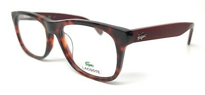 Brand New Lacoste L2749 214 52Mm Havana/matte Red Eyeglasses Rx