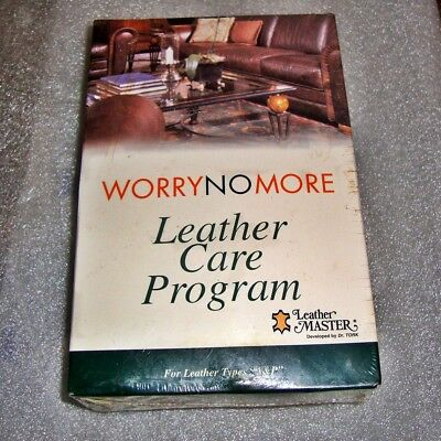 WORRY NO MORE LEATHER CARE PROGRAM For Leather Types A & P,   NIB