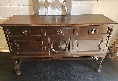 oak dresser base cabinet sideboard cupboard cabinet dark oak barley twist legs
