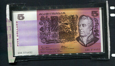 Australia 1985 Qah $5 Dollar Banknote Superb Unc Encapsulated From Gift Set