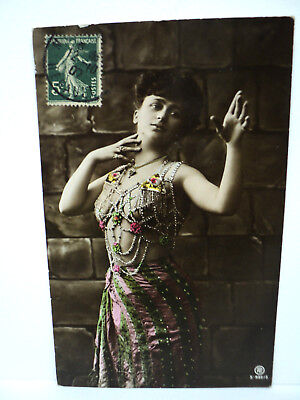 Vintage Cpa  Erotique  Danseuse Du Ventre Belly Dancer  1907
