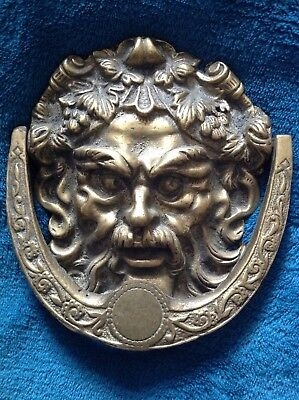 Bacchus Dionysus Greek Roman God Of Wine And Debauchery Door Knocker