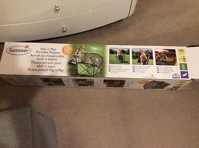 SummerPop n Play PortablePlaypen for infants from 6m, in excellent condition