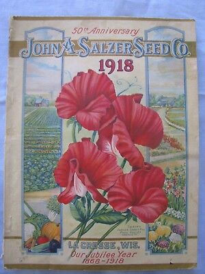 Antique Seed Catalog John Salzer Co 50Th Anniversary 1918 Chromo Covers 160 Pgs
