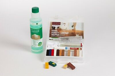 Spar Set Laminat, Parkett Reparatur Set + HARO clean & green natural Reiniger