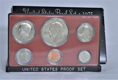 1975-S US Mint Clad Proof Coin Set Eisenhower Dollar in Original Black Packaging