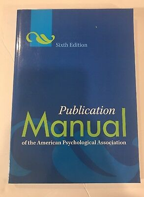 Publication manual of the american psychological association 6th publication manual of the american psychological association 6th edition new fandeluxe Gallery