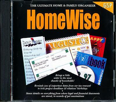 Homewise The Ultimate Home & Family Organise  Pc Cd Rom Software - Excellent