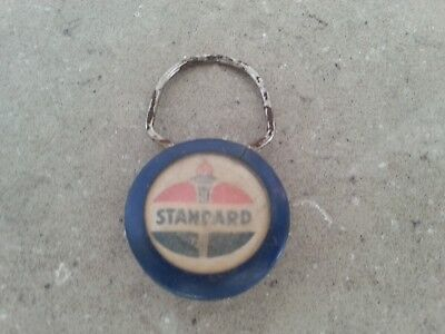 Vintage Standard Oil Gas Station Advertising Snap Ring Key Chain - Hill City KS