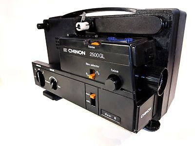 Chinon 2500GL Dual 8mm Variable Speed Silent Film Projector.