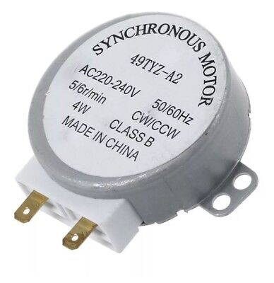 CW/CCW Turntable Microwave Oven Synchronous Motor AC 220-240V 5/6RPM 4W 49TYZ-A2