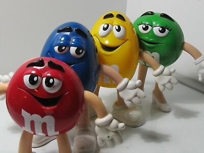 Set of 4 M&M Bendable Figurines