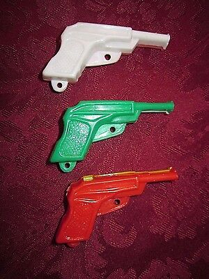 Vintage Party Favors Made in Hong Kong Plastic Gun Whistles (3-Two Tone Color)
