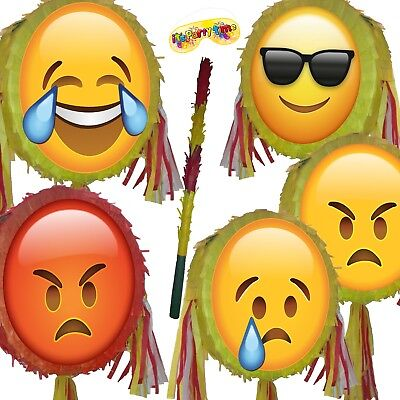 Cool Angry Emoji Pinata smash Birthday Party smileys smiley face moji Red Hot UK