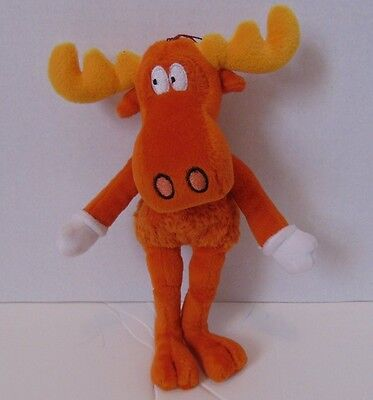"""Mary Meyer The Adventures of Rocky & BULLWINKLE & friends 9"""" PLUSH Bean doll"""