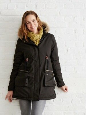 Amazing black Vertbaudet Maternity Coat/ Parka for Baby wearing- Size 14 - BNWT