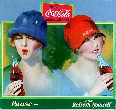 Two Pretty Coke Girls Take A Peek Fridge Magnet