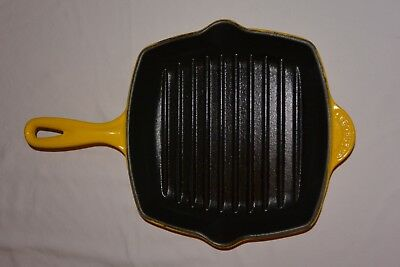 Vintage Le Creuset #20 Cast Iron Grill Pan ~ Yellow & In Awesome Condition!!!!