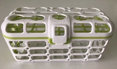 Munchkin High Capacity Baby Dishwasher Basket Green for Pacifiers spoons & more