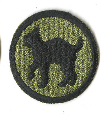 Wwii Original 81St Infantry Division Ripple Weave White Back Patch Peleliu