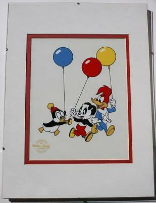 Woody Woodpecker-Chilly Willy-Andy Panda  Walter Lantz Limited Edition Serigraph