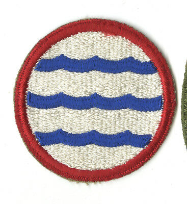 Wwii Original Greenland Base Command White Back Patch